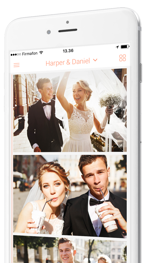 app per foto di matrimonio